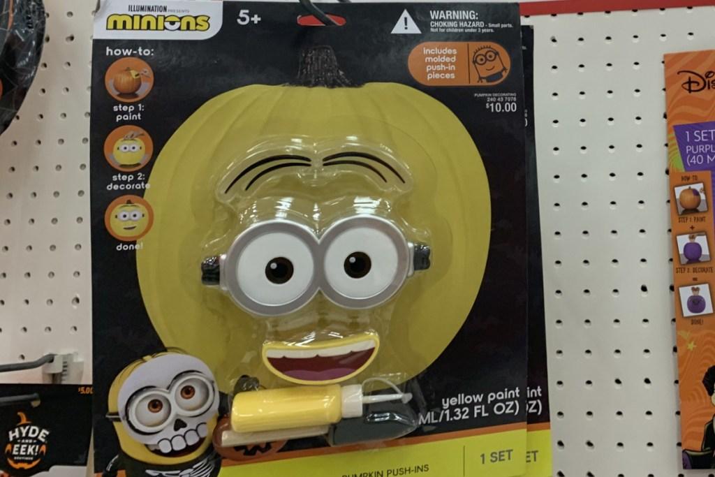 target minions pumpkin kit on display