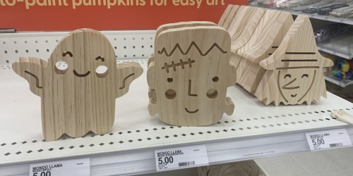 These Cute Mondo Llama Paint Your Own Wood Halloween Crafts are ONLY $5 at Target