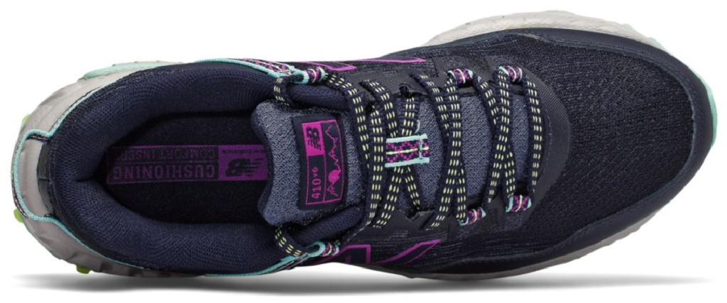 top of new balance trail shoes in purple