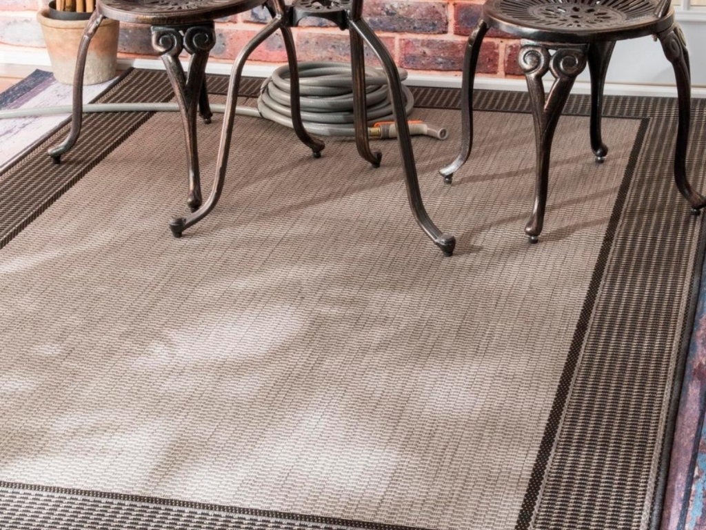 nuLOOM Machine Made Outdoor Gris Gray 6x9 Area Rug