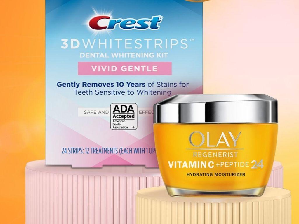 Cerest 3D Whitestrips and Olay Regenerist Cream