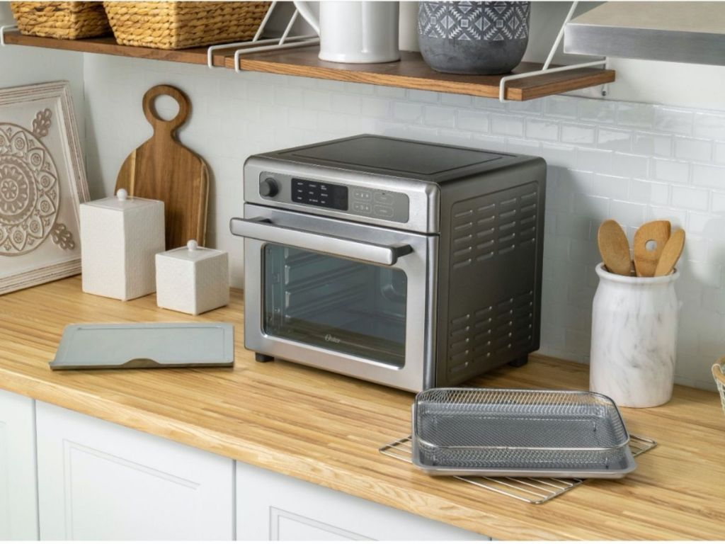air fryer toaster oven on kitchen counter