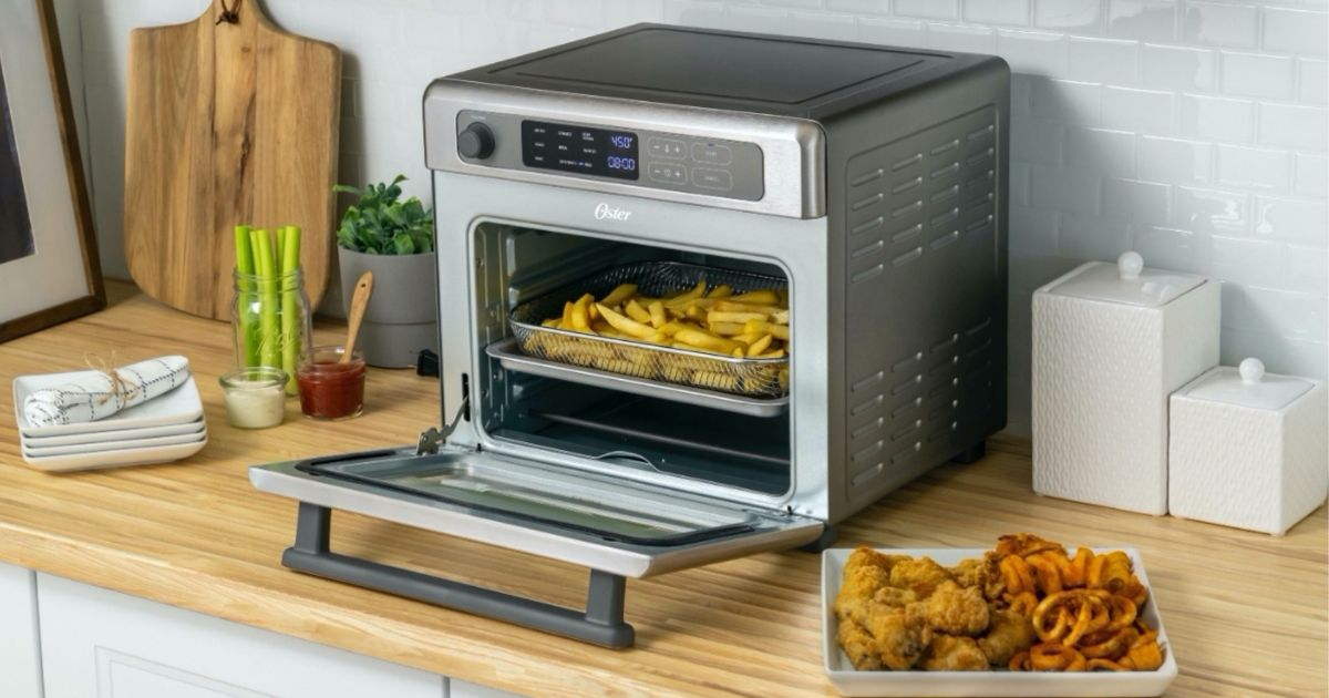 Oster air fryer oven on countertop