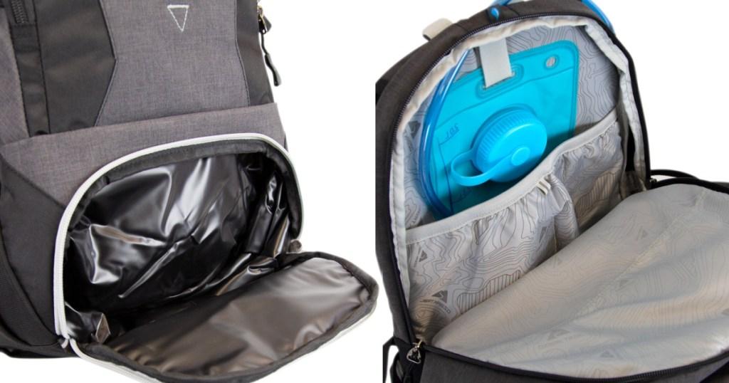 ozark trail backpack pockets opened
