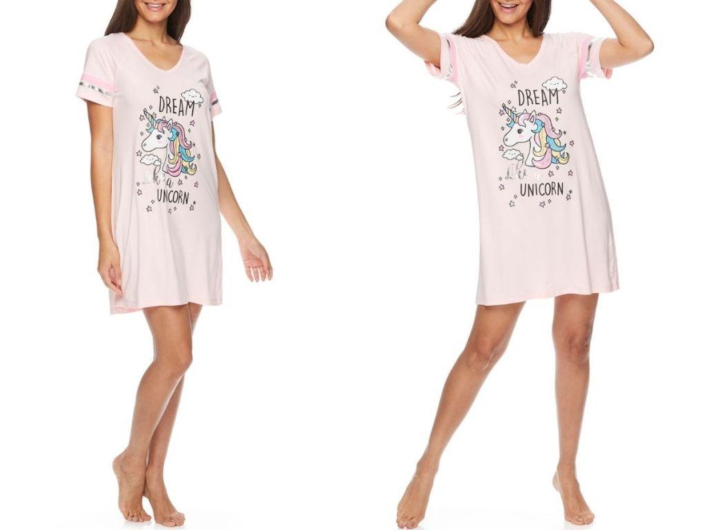 unicorn t-shirt pajamas