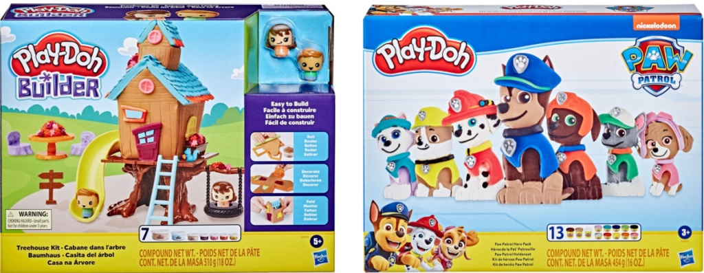 play doh builder house and paw patrol sets