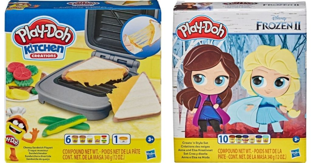 play-doh sandwich and frozen sets