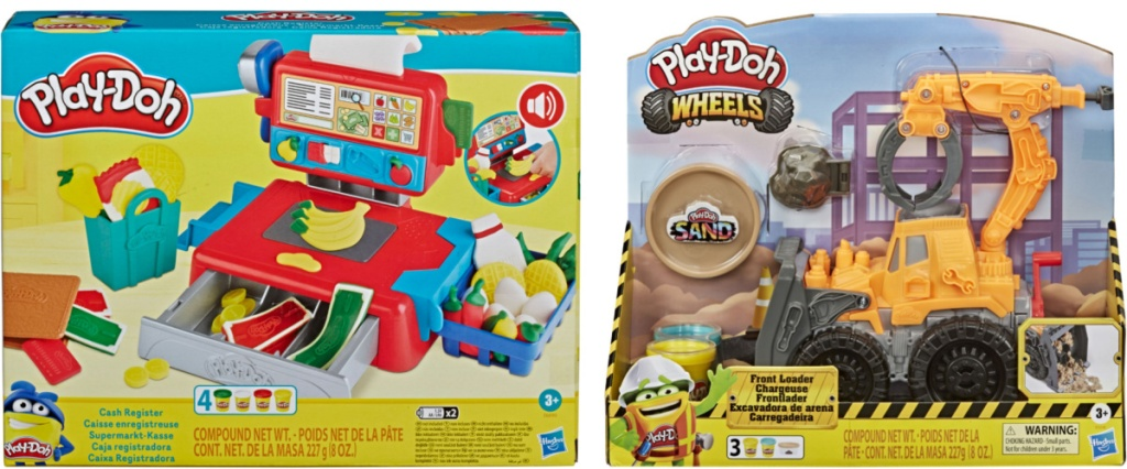 Play-doh cash register and construction truck