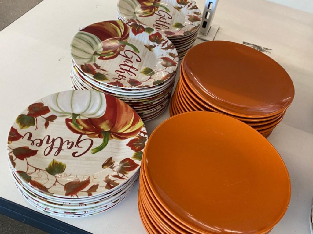 pumpkin gather dinner plates