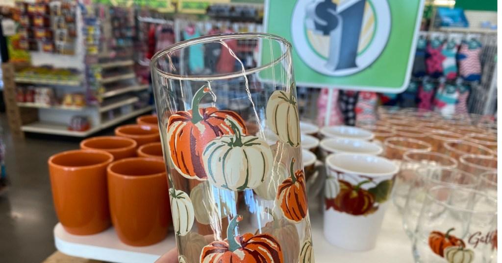 pumpkin tall glass