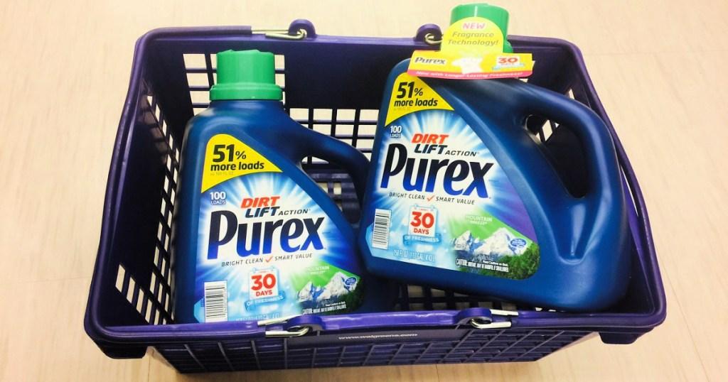 purex laundry detergent in walgreens basket