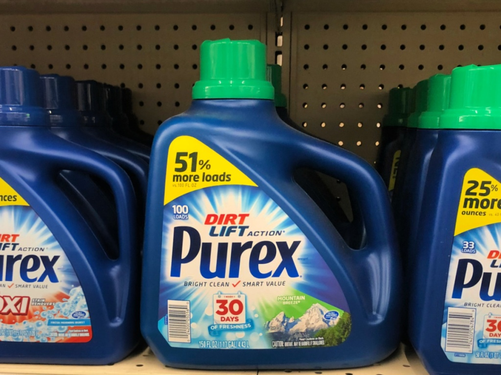 purex with oxi on shelf at store