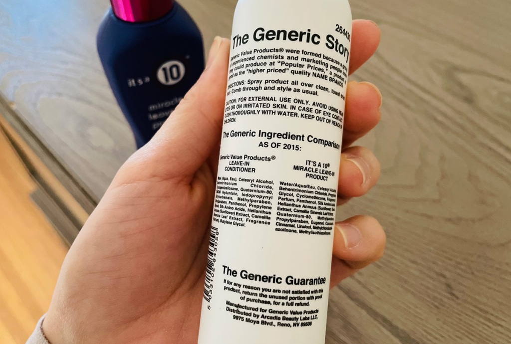 sally beauty's generics it's a 10 hair care dupe