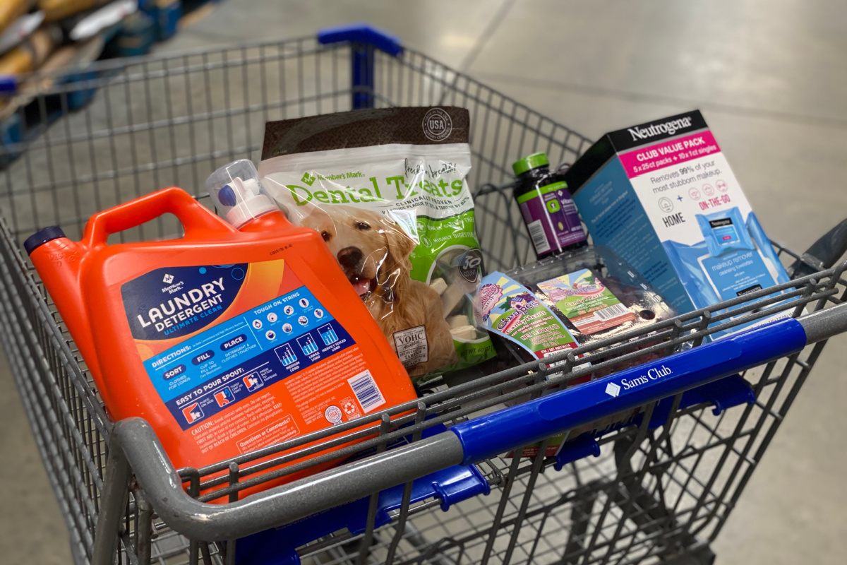 Sam's Club scan and go items in cart