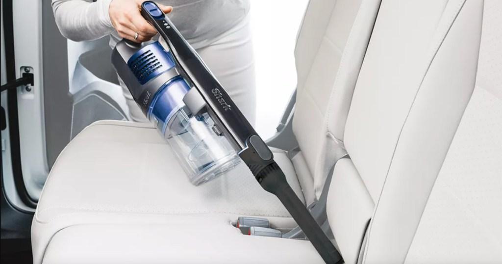 shark rocket vacuum cleaning car