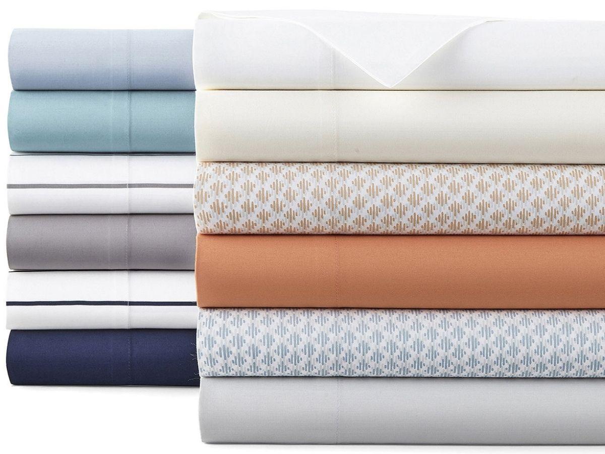 2 stacks of sheets