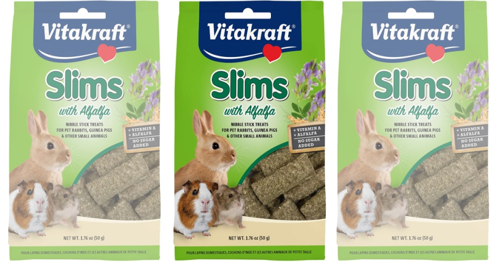 Vitakraft Slims Alfalfa Rabbit, Guinea Pig & Small Animal Nibble Stick
