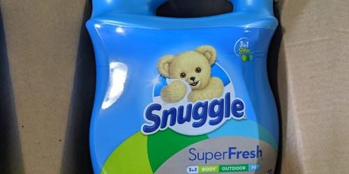 Snuggle Fabric Softener 95oz Bottle Just $5 Shipped on Amazon (Regularly $13)