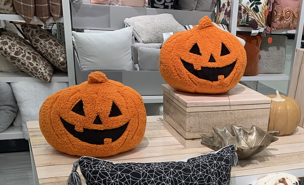 sherpa pumpkin pillows from hyde and eek collection at target