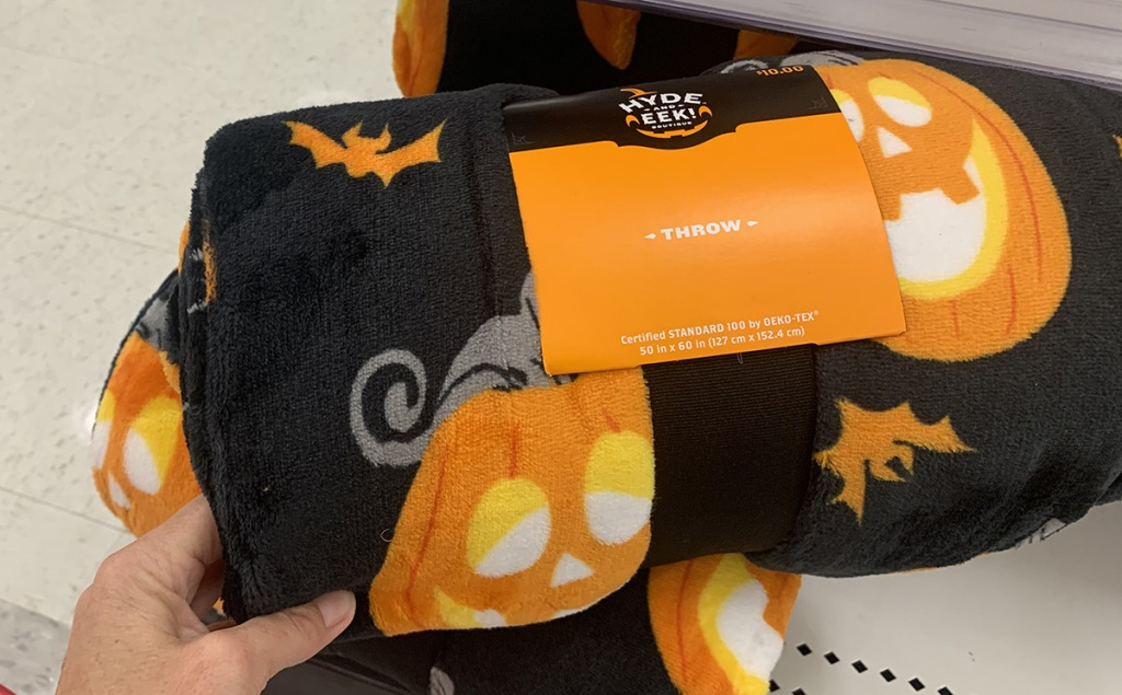jack o lantern throw blanket from hyde and eek collection at target