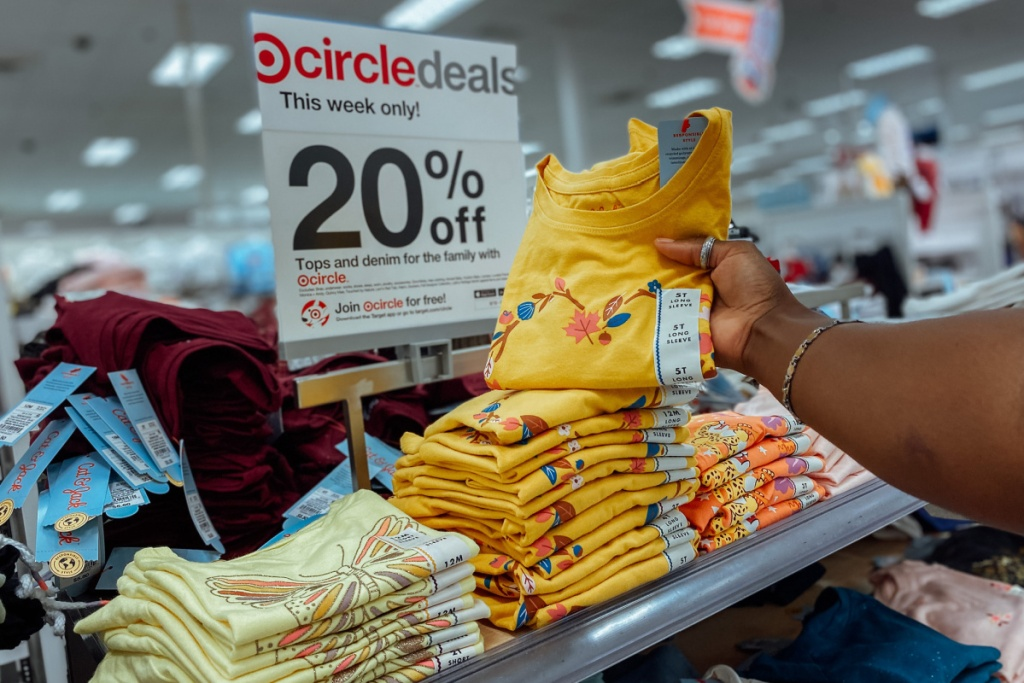 target toddler tops in store