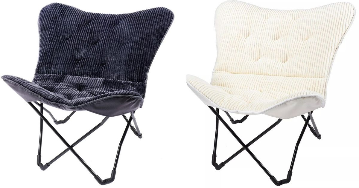 black and white butterfly chairs