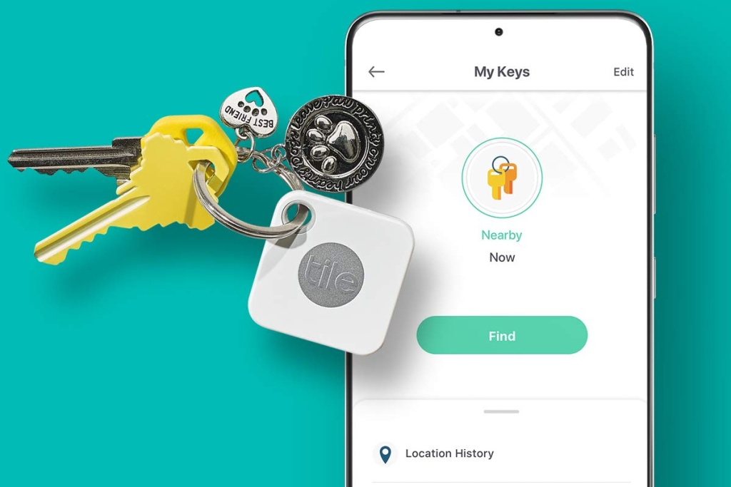 tile key tracker w: phone