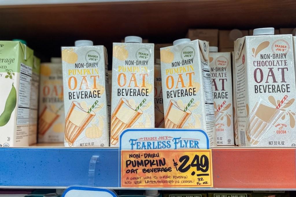 Trader Joe's pumpkin oat drink