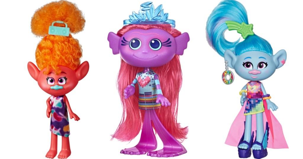 3 trolls fashion dolls