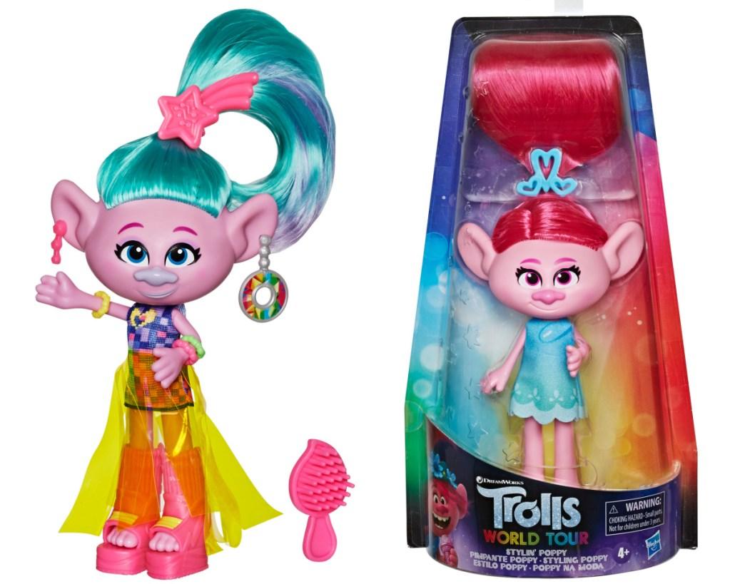 trolls poppy + satin dolls