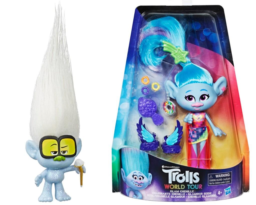 trolls tiny diamond doll + chenille