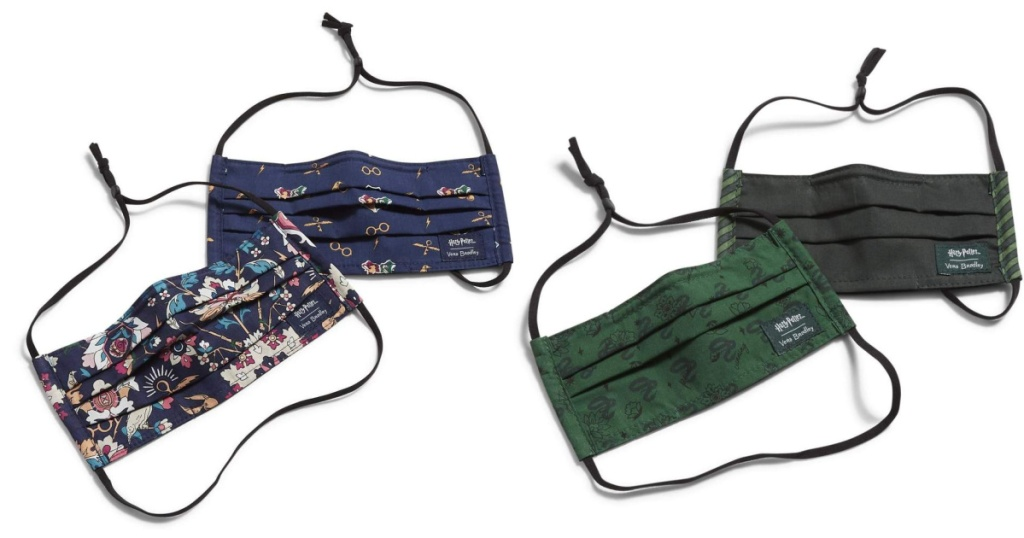 two pairs of vera bradley face masks