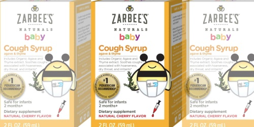 Zarbee's Naturals Baby Cough Syrup 2oz Bottle Just $3.98 Shipped on Amazon (Regularly $8)