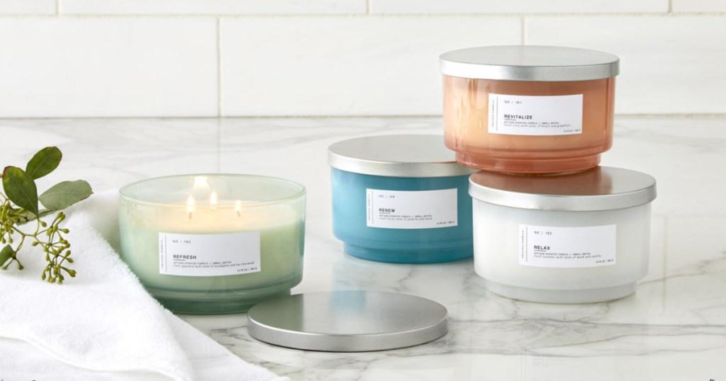3-wick jar candles