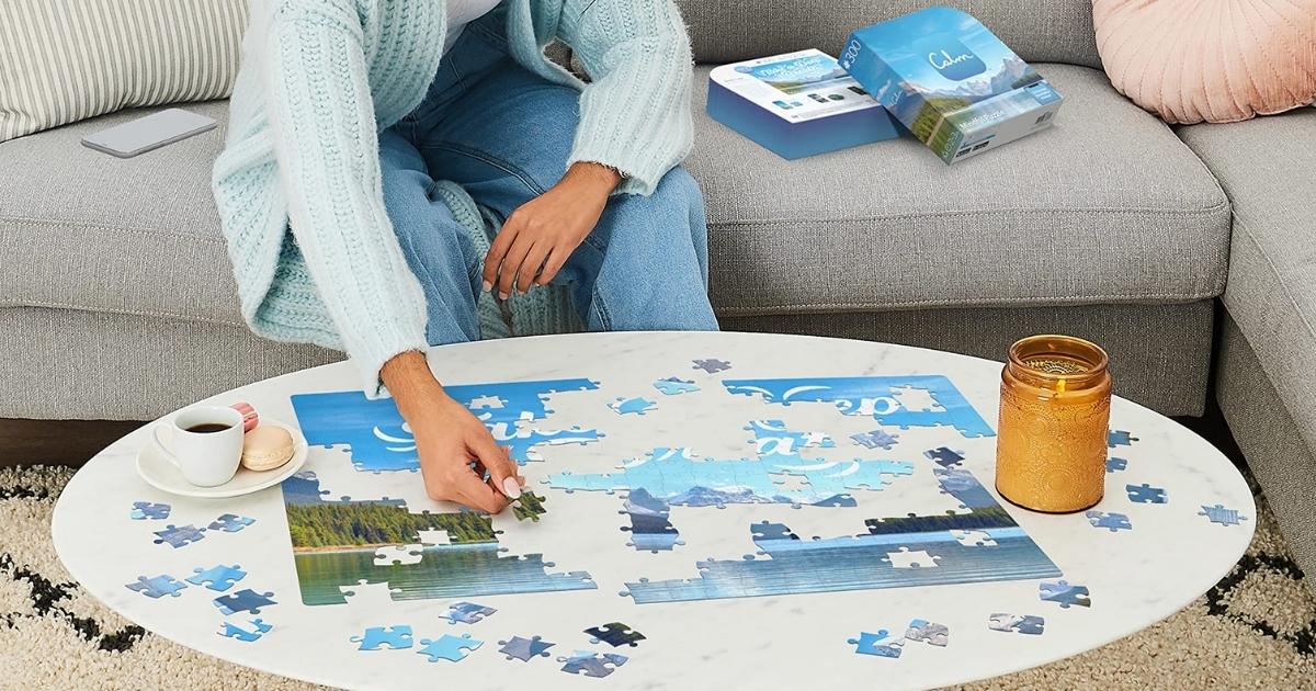 Rotation Maestro 300-piece Calm Jigsaw Puzzle Conscionable $4.55 On Amazon (regularly $15)