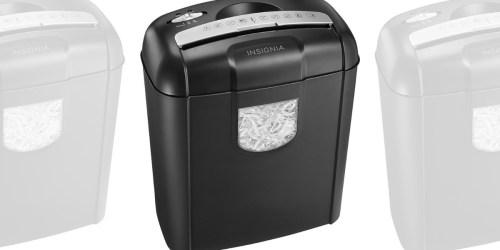 Insignia 6-Sheet Crosscut Shredder Only $19.99 on BestBuy.com (Regularly $47)