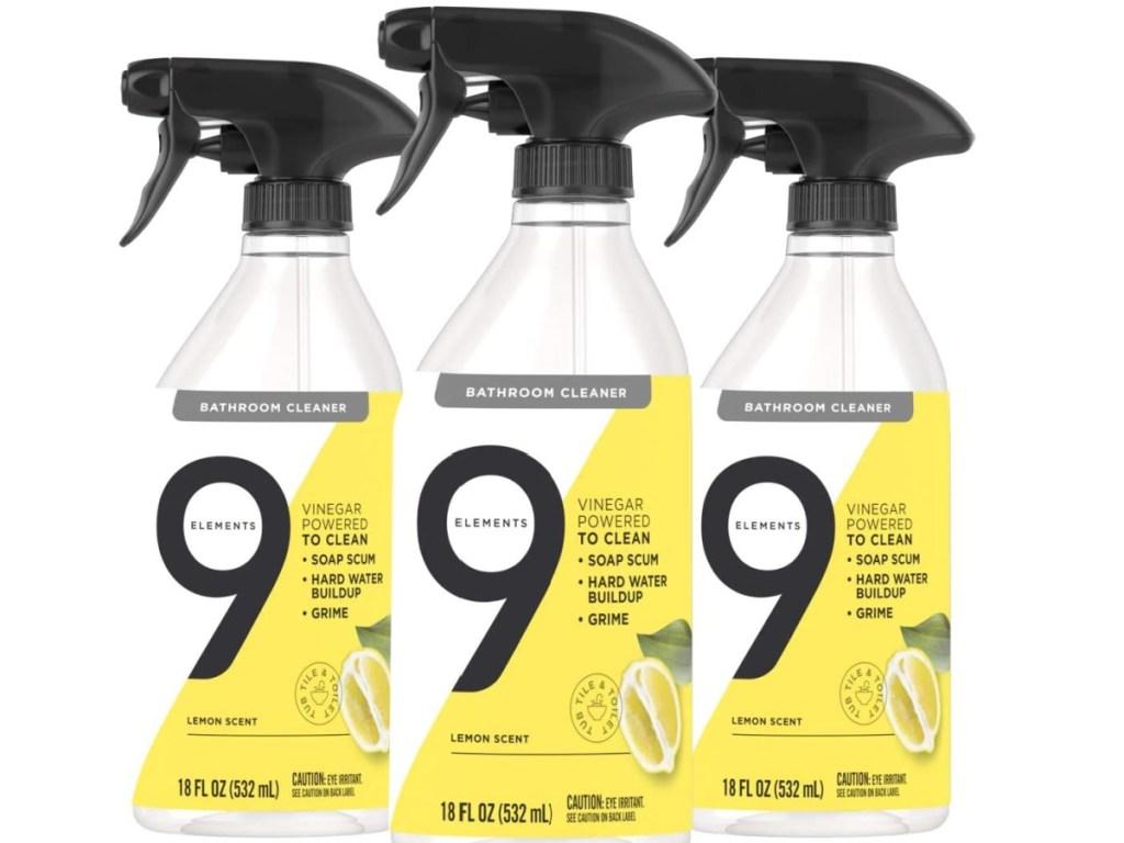 9 Elements Bathroom Cleaner Lemon Scent