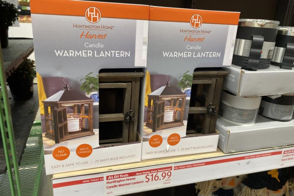store display of candle warming lanterns