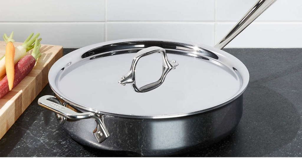 All-Clad 3-Qt. D3 Stainless Saute Pan w/ Lid (Second Quality)