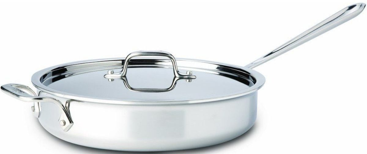 All-Clad 3-Qt. D3 Stainless Saute Pan w/ Lid (Second Quality
