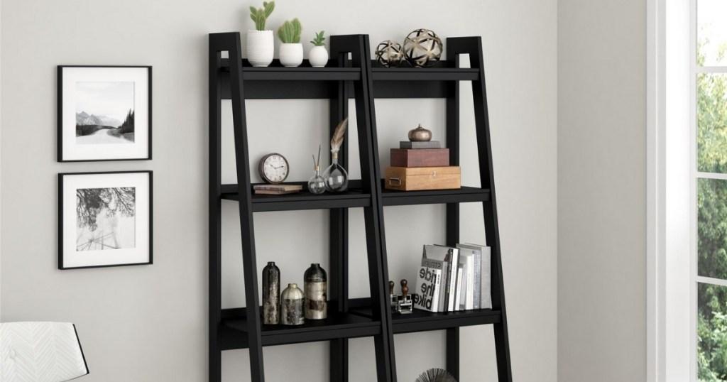ameriwood home hayes black bookshelf bundle