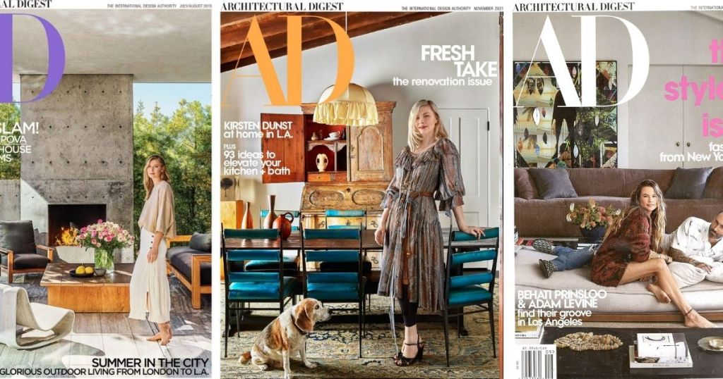 3 issues of Architectural Digest Magazine