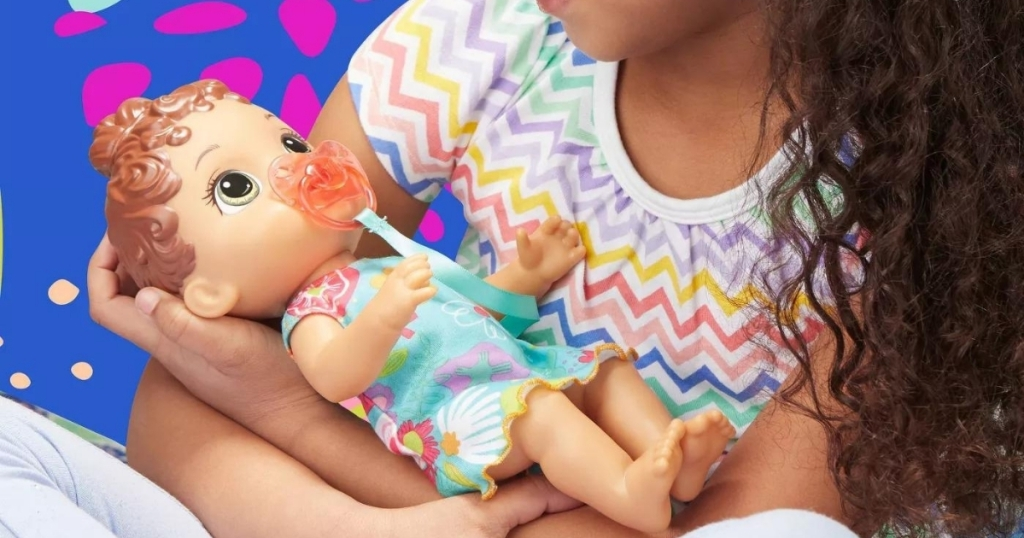 Baby Alive Baby Lil Sounds Interactive Baby Doll - Teal Dress