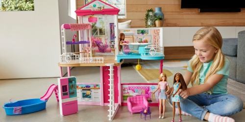 Barbie Dollhouse With 3 Dolls & Furniture Just $59 Shipped on Walmart.com (Regularly $139)
