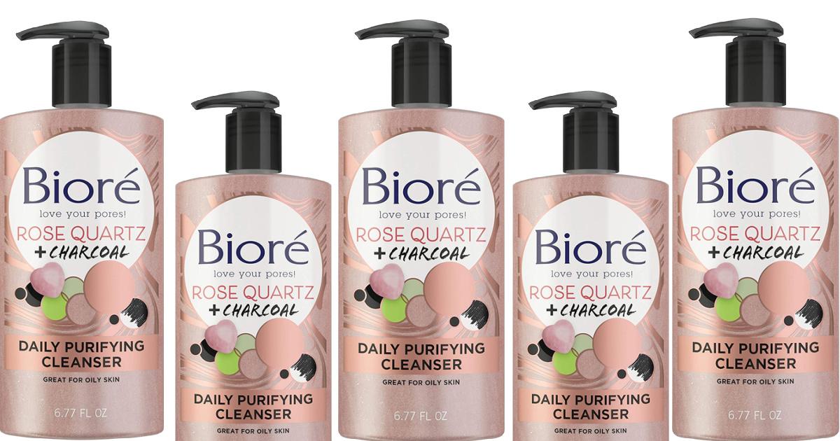 Bioré Rose Quartz Charcoal Daily Face Wash