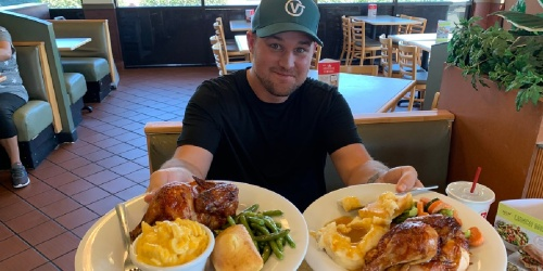 Boston Market $5 Off $15 Purchase | 2 Individual Meals w/ Sides & Cornbread Just $6.98 Each