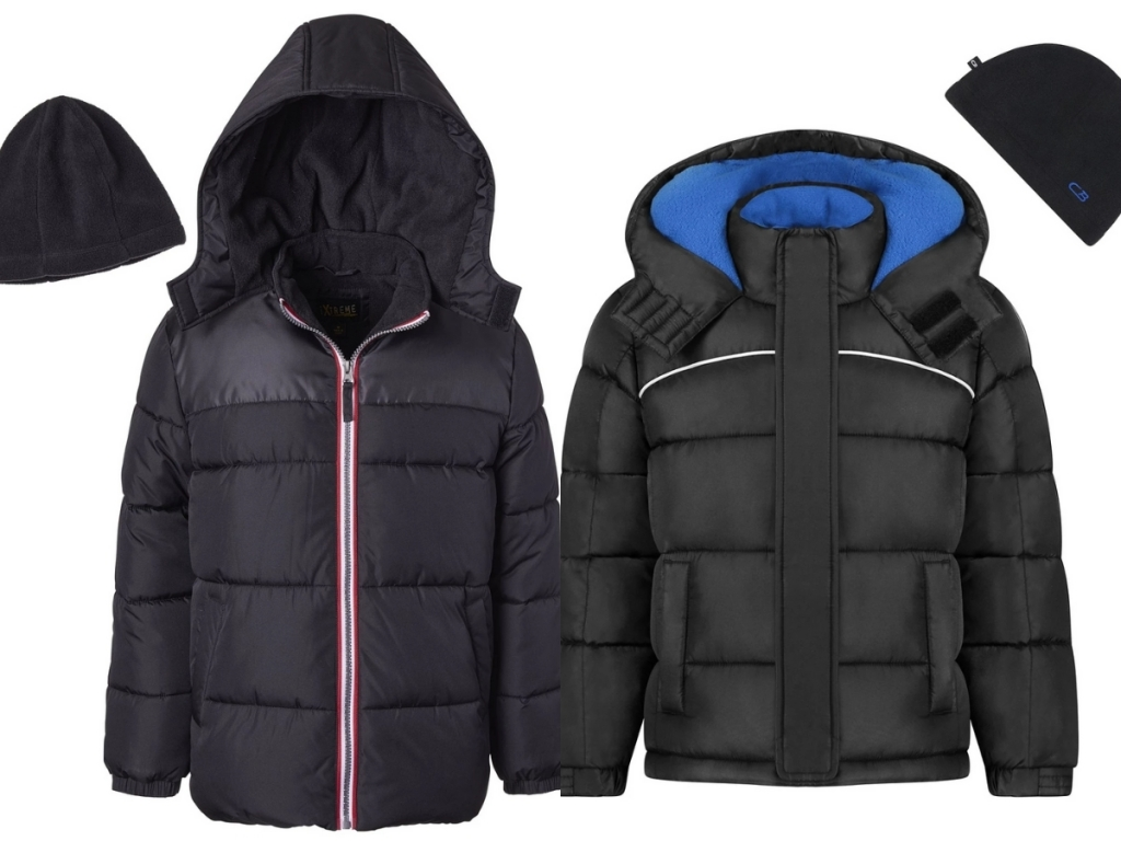 boys ixtreme puffer coat and cb sports puffer coat