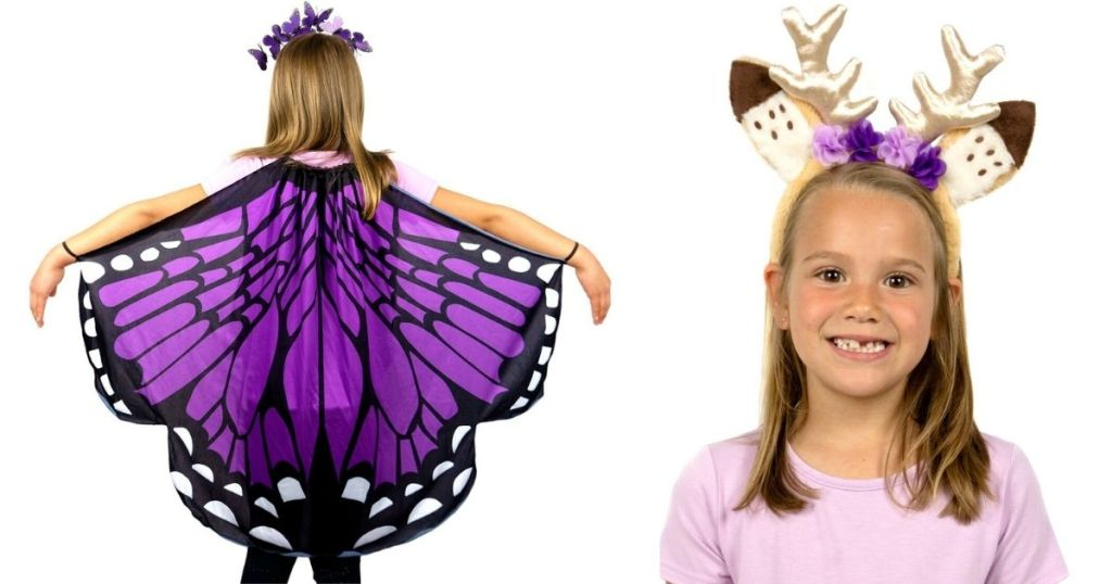 Butterfly Cape and Antler Headband