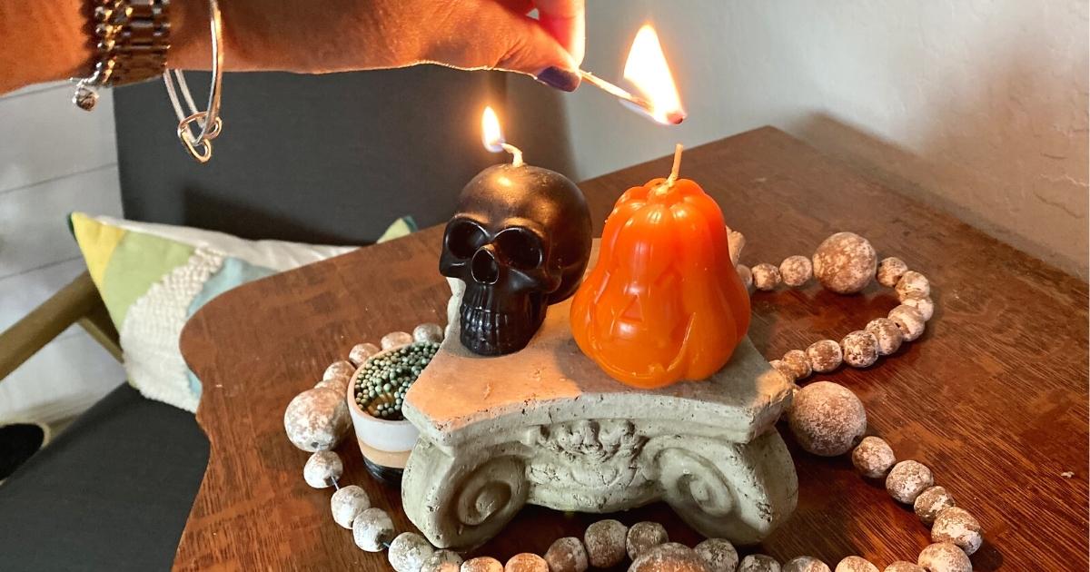 Carol Cao Halloween Flickering Candles 2-Pack