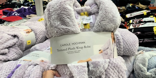 Women's Textured Plush Robe Only $14.99 at Costco | Great Gift Idea!